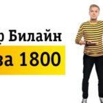 Тарифный план «Всё за 1800» от Билайна